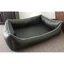 Almohada ortopédica Perros sofá Dormir Espacio piel sintética ortope Dico de cama para perros Manufaktur 100