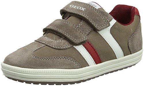 Geox Jungen JR Vita B Low-Top Sneaker, Beige (Beige/Brick), 36 EU