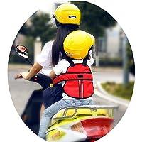 Vine Niño Arneses de seguridad Niños Portador Correa de Cinturón de Seguridad reflectante ajustable de Asiento con Hebillas para Vehículo Eléctrico Moto Motocicleta