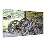 Wagenrad Altertum Alt Bauern Arbeit Holzrad Leinwand Poster Druck Bild aa3475 90x60