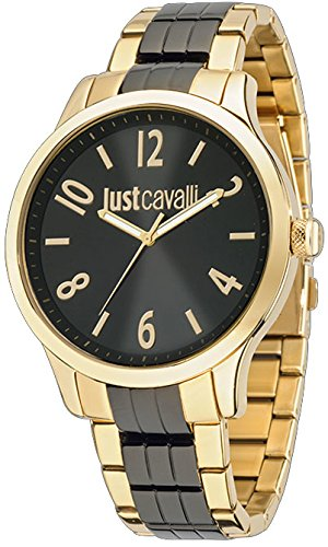 Just Cavalli Men's Multicolor Steel Bracelet & Case Quartz Black Dial Analog Watch r7253127520