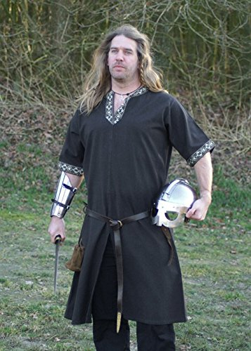 medieval-larp-medieval-vikings-romer-special-occasion-tunic-top-in-black-sizexxxl