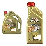 Castrol EDGE Motorenöl 5W-30 5L + 1L = 6 Liter Motoröl Motorenöl Motor Motorenöl; Spezifikationen/Freigaben: SAE 5W-30; ACEA C3; BMW Longlife-04; VW 504 00 / 507 00, Porsche C30; MB-Freigabe 229.31 / 229.51