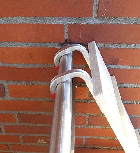 1 Meter! Katzenleiter / Katzentreppe für Balkon, Katzenmöbel, Fichte Natur 20 cm, Mit Haken! (2100Pb)