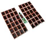 Aerzetix: Lot von 48 Patches Flicken für Fahrradreifen + Kleber Fahrrad Reifen Flickzeug