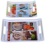 #10: SKI Plastic Printed Tray Set, 2 Pieces, Assorted