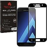 TECHGEAR® Samsung Galaxy A3 2017 [3D VERRE Edition] Protecteur d'Écran en Verre Trempé avec Protection Plein Écran pour Samsung Galaxy A3 2017 (Noir) - [Séries SM-A320]