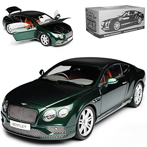 Paragon Bentley Continental GT Coupe Rechtslenker Dunkel Gruen 2. Generation 2011-2018 1/18 Modell Auto (Bentley Modell)