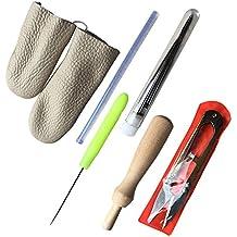 Gosear aguja fieltro de lana fieltro herramientas alfombrilla tijeras aguja Kit de manualidades y almacenamiento Caja de plástico