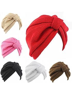 Las mujeres sombrero unisex de estilo indio estirable Turbante headwrap cabeza envolver pelo PAC