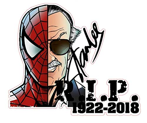 Stan Lee nr1 RIP Bunte Sticker Aufkleber Digitaldruck Marvel Avenger Comic