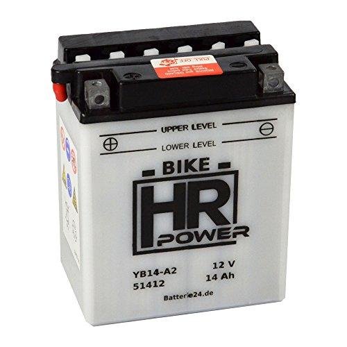 Motorrad Batterie Starterbatterie 12V 14Ah YB14-A2 51412