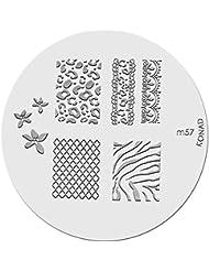 Konad plaque Nail Art - M57