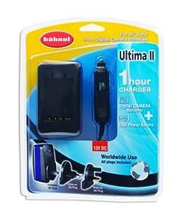 Hähnel Powerstation Ultima II Sony, 1-Stunden-Lader f. Sony Digitalkamera / SLR-Akkus, inkl. 12V, weltweit einsetzbar 100V–240V