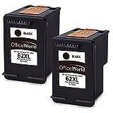 OfficeWorld Remanufactured HP 62 62XL Schwarz Druckerpatronen Hohe Kapazität Kompatibel mit HP Envy 5540 5544 5546 5640 5642 5644 7640 5646 5542, HP OfficeJet 200 5740 5742 5744