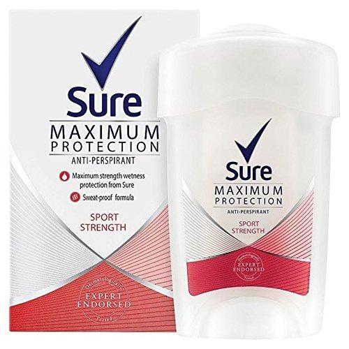 Sicuro Che Le Donne Massima Sport Protezione Anti-Traspirante Crema Deodorante 45Ml (Confezione da 4)