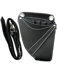 bolsa de herramientas de peluquería, salón de Peluquería funda, tijeras bolsa, tijeras cinta, muchos bolsillos para las tijeras y peines,