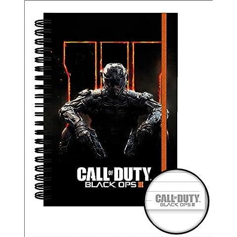 Call of Duty Black Ops 3 Cover Premium ufficiale licenza-taccuino in mano seguenze A5 Format (3 Raccoglitore Ad Anelli Notebook)
