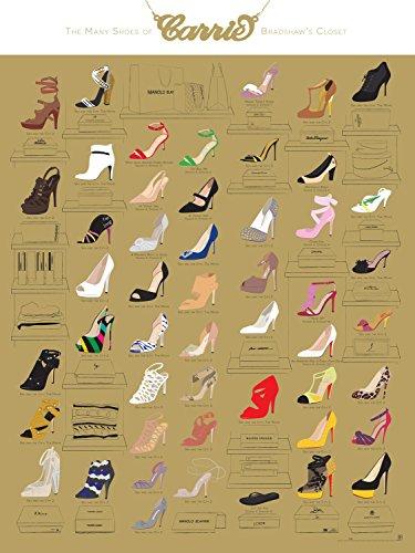 le-molte-scarpe-di-carrie-bradshaw-dell-armadio-18-x-24-by-pop-tabella-laboratorio