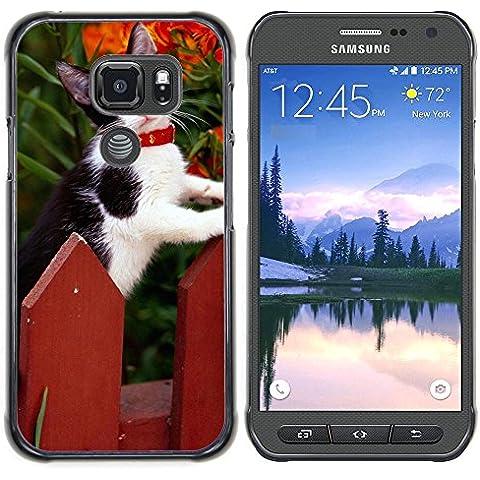 Loire Dura Variopinta Stampato Protettiva Copertura Shell Di Caso Della Pelle Samsung Galaxy S7 Active (NOT FOR S7) ( Staccionata