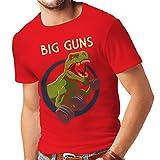 Männer T-Shirt Trainieren Sie hart - für Gewichtheben und für Kniebeugen - Fitness, Crossfit, Gewichtsverlust (Small Rot Mehrfarben)