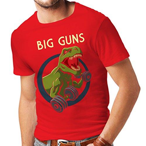 lepni.me T-Shirt pour Hommes Entraînez-Vous Dur - Fitness, Musculation, entraînement, Amateurs de Squat (X-Large Rouge Multicolore)