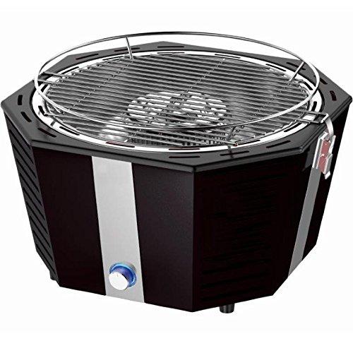 Syntrox Germany blitzschneller und raucharmer Holzkohlegrill mit Tasche Tischgrill Barbecue BBQ Grill Schwarz