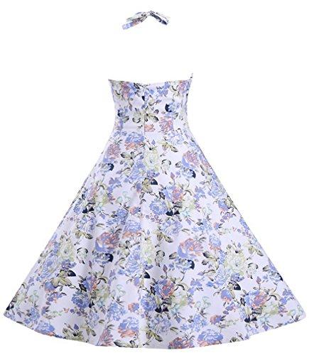 Eyekepper Robe courte Femme / demoiselle Robe coctail- robes style elegante floral couleur-1