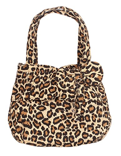 Fortuning's JDS® Borsa graziosi balza & design papillon tela stampata stampe leopardo