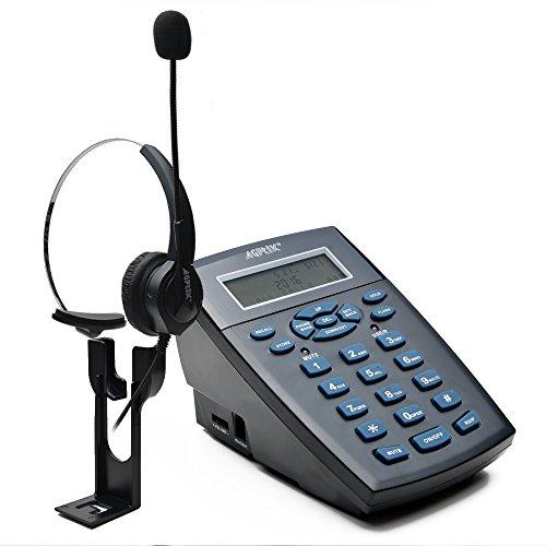AGPTEK FSK / DTMF Call Center DialPad Büro Telefon mit RJ9 Headset, Ziffernblock, Wiederwahl, Vorwahl für Telefonberatungsdienste Versicherungen Krankenhäuser Banken Telekom-Betreiber Unternehmen