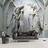 YShasaG Seidenwandbild Benutzerdefinierte Fototapete 3D Relief Engel Skulptur Wandbild Wohnzimmer TV Sofa Schlafzimmer Wand Papier Für Wand 3 D Fresko,500cm*280cm