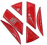 Finest-Folia 3D Emblem Gel Aufkleber hinten (Rot)