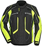 Tourmaster Advanced Men's Textile Motorcycle Jacket (Black/Hi-Viz, XXX-Large)