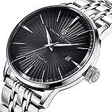 Herren Armbanduhr Classic Automatic Edelstahl Herren Armbanduhr mit Schwarzem Zifferblatt