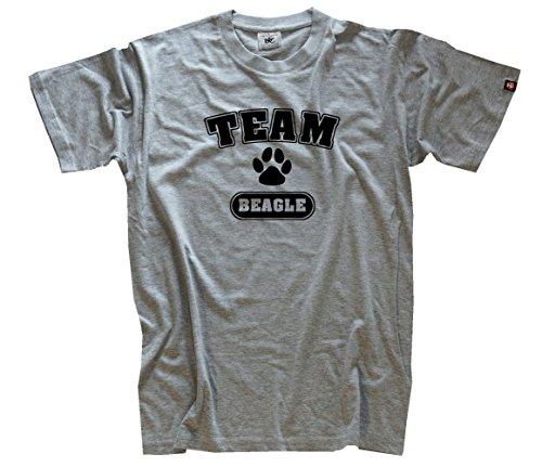 Shirtzshop–Maglietta da uomo Team Beagle University Style grigio