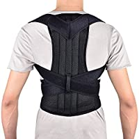 Back Posture Corrector, HailiCare Full Back Brace Shoulder Posture Correction For Upper and Lower Back Support, Brace to Improve Slouch, Back Pain, Thoracic Kyphosis