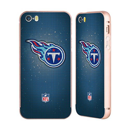 ... iPhone 5 / 5s / SE LED. B073RXQMRS. Ufficiale NFL LED 2017/18 Tennessee  Titans Oro Cover Contorno con Bumper in Alluminio per