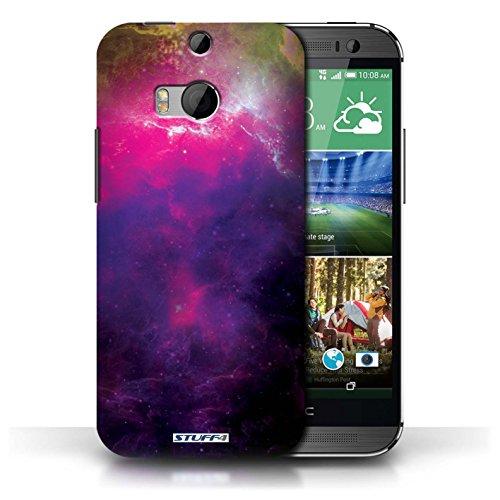 Kobalt® Imprimé Etui / Coque pour HTC One/1 M8 / Nébuleuse Pourpre conception / Série Cosmos Nébuleuse Pourpre
