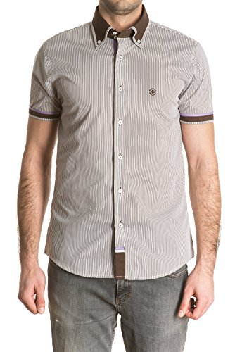di-prego-chemise-marron-rayee-manches-courtes-col-assortie-et-a-manches-welt-homme