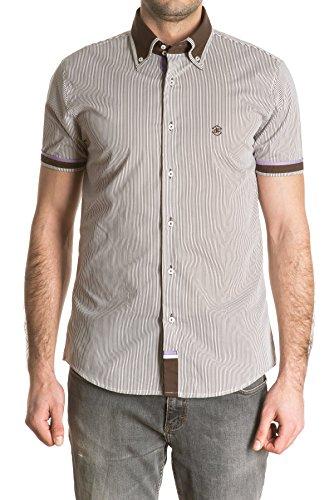 di-prego-gestreiftes-kurzarm-shirt-fur-herren-farbe-braun-mit-blauem-kragen-und-rand-auf-armel-gross