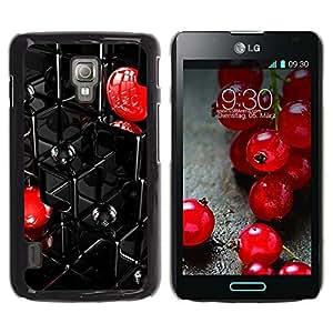 Be Good Phone Accessory // Hartschalen Handyhülle Schutzhülle Schutz Etui Hülle für LG Optimus L7 II P710 / L7X P714 // Abstract Grid