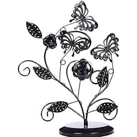 XYXY Albero principessa farfalla orecchino deposito rack