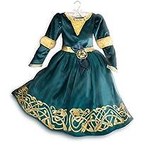 Disney Brave - Costume da Merida, per bambine e bambini, misura 7/8 - Corpetto Trim