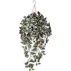 Emerald Kunstpflanze Dreimasterblume Hängend Zweifarbig Violett 420847