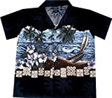 Kinder Hawaiihemd Stormy Paradise inkl. Shorts Größe
