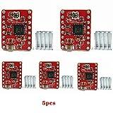 Hrph 5 Stück A4988 Schrittmotor Treibermodul 3D Drucker Polulu StepStick RAMPS RepRap