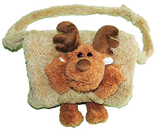 alles-meine.de GmbH Kindermuff -  lustiger Elch / Rentier  - mit extra Tasche - für warme Hände - Kinder - Muff - Tiere - zum Umhängen - für Mädchen und Jungen / wie Handschuh ..