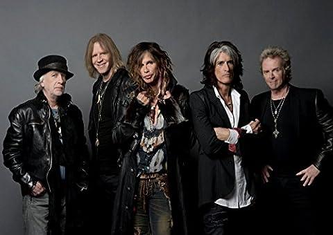 Aerosmith 20 Steven Tyler Joe Perry Brad Whitford Tom Hamilton Joey Kramer Great Rock Metal Album Cover Design Music Band Best Photo Picture Unique Print A4