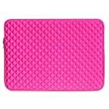Miya System Ltd Laptop Sleeve Case, Laptophülle 13.3 Zoll stoßfest Notebooktasche Laptop Schutzhülle Notebook Sleeve Hülle PC Laptop Schutztasche mit Diamantgitter.-Rosa