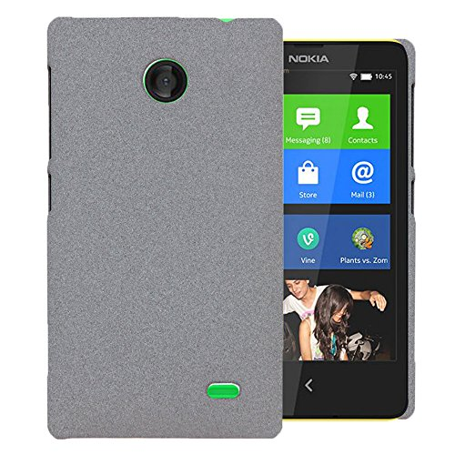 Heartly QuickSand Matte Finish Hybrid Flip Thin Hard Bumper Back Case Cover For Nokia X - Retro Grey  available at amazon for Rs.279